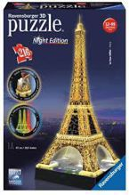 PUZZLE 3D 216 EL. WIEŻA EIFFLA NIGHT EDITION LED