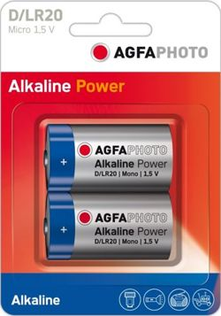 BATERIA LR 20 AGFA PHOTO ALKALINE POWER 1 SZTUKA