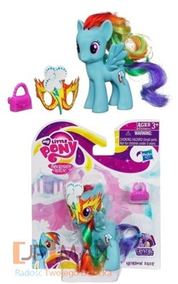 MY LITTLE PONY KUCYK RAINBOW DASH NIEBIESKI MASKA