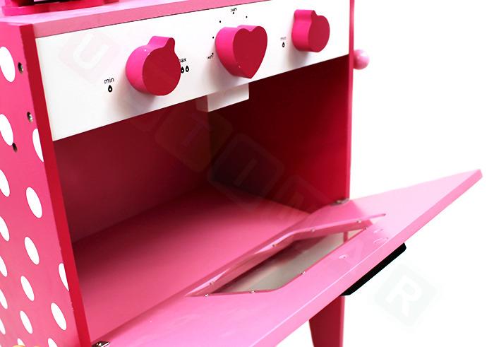 Drewniana Różowa Kuchnia Dla Dzieci Z Akces Dla